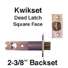 kwikset door lock parts. Deadlatch, \u201cKwikset\u201d Entry Door 2-3/8\u201d Backset, 7 Kwikset Lock Parts