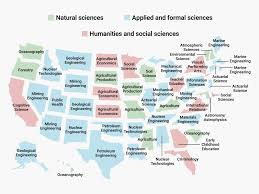 The Most Disproportionately Popular College Major In Every Us State Jpg