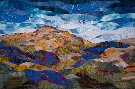 Art Quilts by Patricia Joy, Fiber Artist & Earth Series I: Boulderfield at 3 O'Clock Adamdwight.com