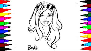 Coloring Pages Barbie Rainbow Dash Hair Color Mlp Coloring Book