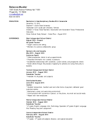 Long Term Substitute Teacher Resume Stunning R Mueller December48 Resume