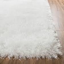 shimmer shag snow white solid plain modern luster ultra thick soft
