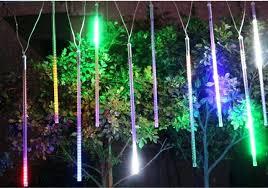 led meteor shower lights art special led meteor shower light double side patch waterproof meteor bar