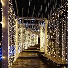 Zenuss 300 pcs Flexible LED Curtain <b>Icicle</b> String Lights <b>Remote</b> ...