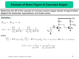 example of noise figure of cascaded stages