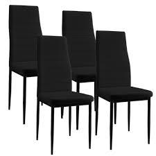 Esszimmertisch + 4 Stühle schwarz - Wohnstatt24