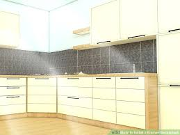 how to install kitchen backsplash image titled install a kitchen step install glass mosaic tile kitchen backsplash
