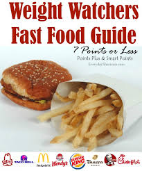 weight watchers fast food guide 7 points or