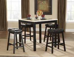 black pc modern counter height dining set wfaux marble top