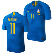 World Brazil 11 Men's Cup Jersey Coutinho Philippe Away Blue|Green Bay Packers Helmet 3' X 5' Polyester Flag, Pole And Mount