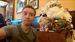 Image Man Vs Food Youtube Massive Ice Cream Sundae Challenge The Kitchen Sink At San Francisco Creamery