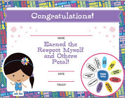 Certificates Printable Daisy Girl Scouts Petal Certificates Printable Instant Download