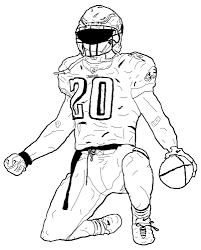 Small Picture Realistic football player coloring pages ColoringStar