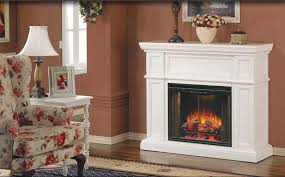 artesian 28 electric fireplace in white with remote
