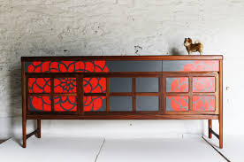 modern painted furniture. Mid Century Modern Painted Furniture | Laser-Cut Laminate Updates Mid-Century D