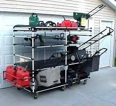 lawn mower garage storage. Lawn Mower Garage Lift Storage Photos Intended