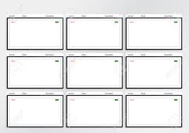 Professional Storyboard Template Professional Of Film Storyboard Template For Easy To Present Stock 6