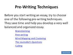 by anita j ghajar selim ppt  pre writing techniques