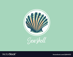 Seashell Design Seashell Design Logo Royalty Free Vector Image