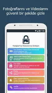 Android için TÜRKÇE - Fotoğraf Gizleme, Video Gizleme - APK'yı İndir