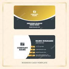 Visiting Card Design Black And Gold Creative Golden Business Visiting Card Vector Design