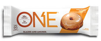 amazon one protein bar maple glazed doughnut 12 pack gluten free protein bar with high protein 20g and low sugar 1g guilt free snacking for
