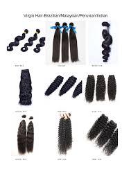 Virgin Hair Texture Chart