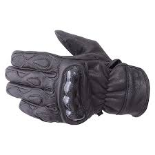 motorcycle carbon fiber knuckle leather riding gloves