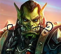 Image result for evil thrall with a mustache