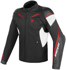 dainese street master motorcycle leather jacket clothing jackets black white red dainese drake
