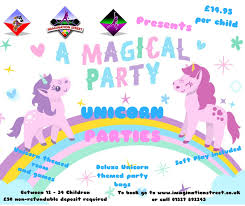 brand new for 2018 unicorn parties