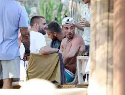Luke Shaw and Jack Grealish relax by ...