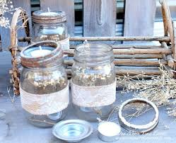 How To Decorate Canning Jars Fall Tea Light Mason Jar Vignette Hometalk 97