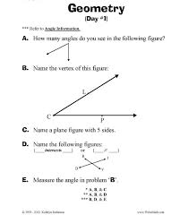 Elementary Geometry Worksheets | 3rd, 4th, 5th Grade