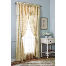priscilla curtains attached valance curtains 45 inches long curtains with attached valance