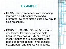 claim essay example claim of fact essay examples gxart mrs the argumentative essay introducing argument the counterclaim example claim more americans are choosing low carb