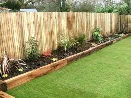 wooden garden edging