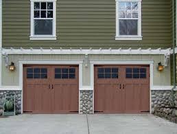 sears garage doorsCraftsman Style Garage Doors With Garage Door Opener On Garage