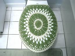toilet lid covers seat cover crochet pattern holiday elongated and rug set