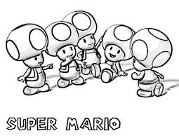 Mario Mushroom Coloring Pages Classic Style Super Mario Coloring