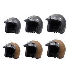 1 x helmet more detailed photos dot 3 4 face vintage leather motorcycle helmet