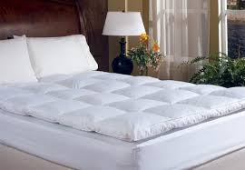 thick mattress topper. Luxury Thick Feather Down Mattress Topper Options To Incl. Two Pillows C