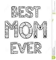 Best Mom Ever Stock Vector Illustration Of Doodle Decorative