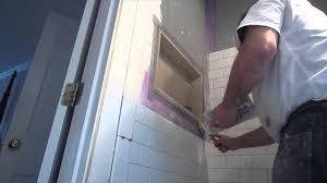 how to install subway tile in a shower