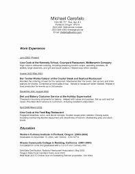 Cafe Supervisor Sample Resume Inspirational Line Cook Resume