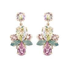 sensational crystal drop chandelier earrings swarovski crystal chandelier drop earrings