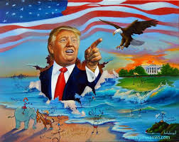 jim warren fine art jim warren fine art donald trump s very grand entrance