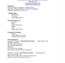 Barback Resume Resume Cv Cover Letter