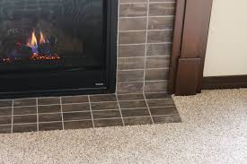 tile fireplac with tile hearth