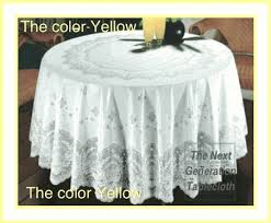 tablecloths 70 round light yellow white or beige elegant vinyl lace